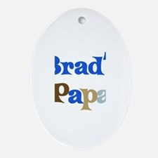 Brad's Papa Oval Ornament