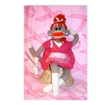 Sock Monkey for the Cure Pink Ribbon Postcards (8)
