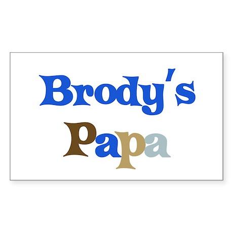 Brody's Papa Rectangle Sticker