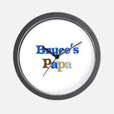 Bryce's Papa Wall Clock
