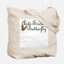 Anti Social Butterfly Tote Bag