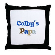Colby's Papa Throw Pillow