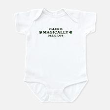 Caleb is delicious Infant Bodysuit