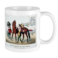 Antique Horse Racing Mug