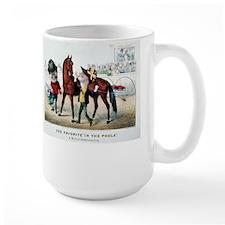 Antique Horse Racing Mug