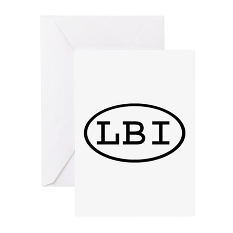 LBI Oval Greeting Cards (Pk of 20)