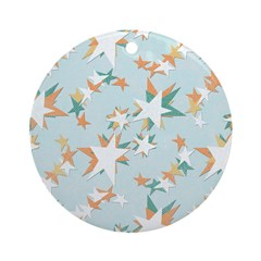 Funky Vintage Stars Ornament (Round)