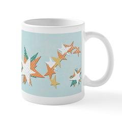 Funky Vintage Stars Ceramic Coffee Mug