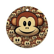 Lucky Monkey Ornament (Round)