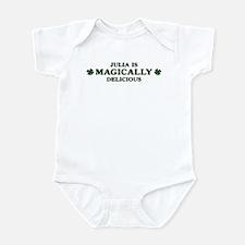 Julia is delicious Infant Bodysuit