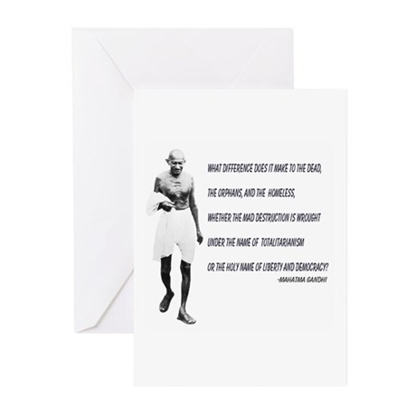 Greeting Cards (Pk of 10) - Ghandhi Quote