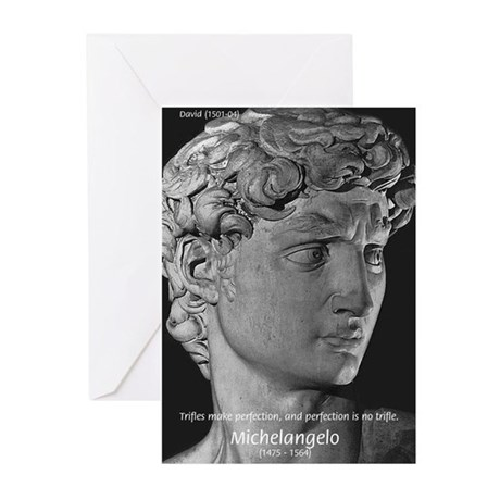 Michelangelo: David: Greeting Cards (Pk of 10)