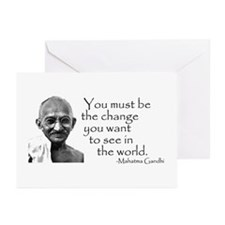 Greeting Cards (Pk of 10) - Be the change...