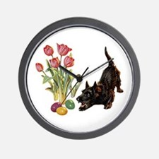 EASTER SCOTTIE Wall Clock