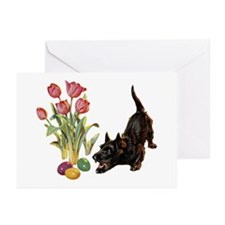 EASTER SCOTTIE Greeting Cards (Pk of 10)