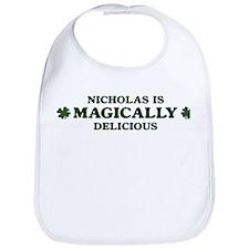 Nicholas is delicious Bib