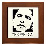 Yes we can / Obama Framed Tile