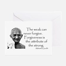 Greeting Cards (Pack of 6) - The weak can never