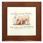 friends not food Framed Tile