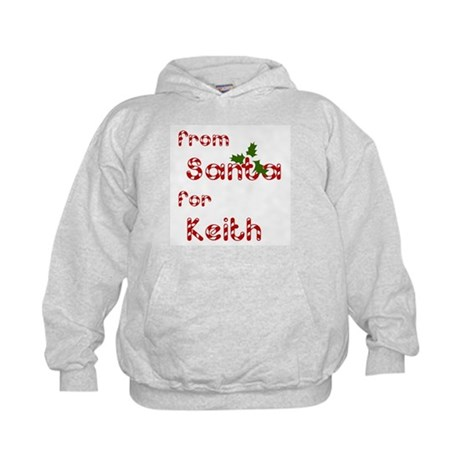 From Santa For Keith Kids Hoodie