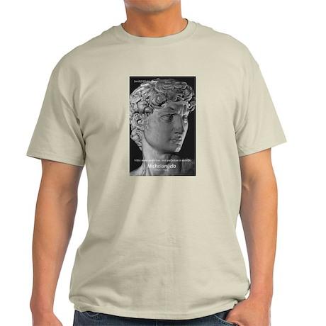 Michelangelo David: Ash Grey T-Shirt
