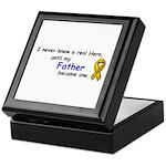 MY FATHERS A HERO/SARCOMA CANCER Keepsake Box