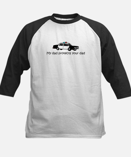 My dad protects your dad Kids Baseball Jersey