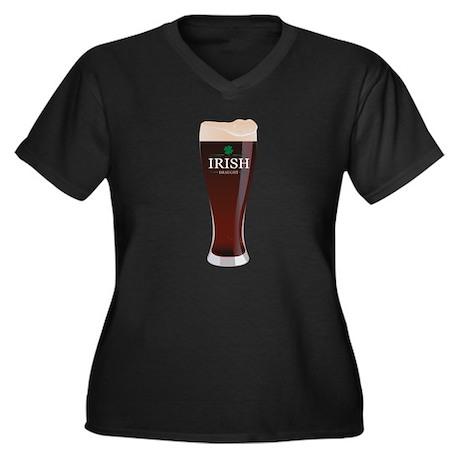 Irish Draught Women's Plus Size V-Neck Dark T-Shir