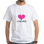 loveable heart White T-Shirt