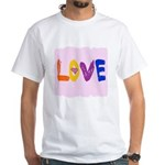 love words White T-Shirt