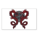 Double Dragon Rectangle Sticker