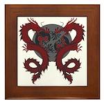 Double Dragon Framed Tile