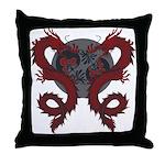 Double Dragon Throw Pillow