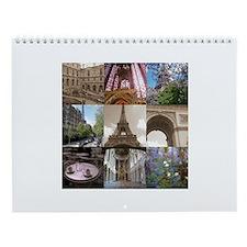 Paris France Wall Calendar