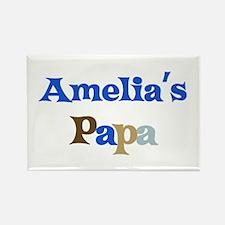 Amelia's Papa Rectangle Magnet