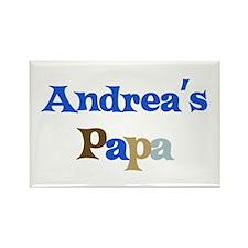 Andrea's Papa Rectangle Magnet