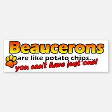Potato Chips Beauceron Bumper Bumper Bumper Sticker