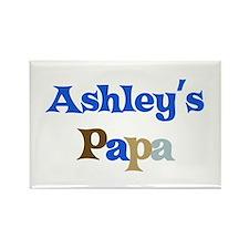 Ashley's Papa Rectangle Magnet