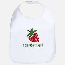 Strawberry Girl Bib