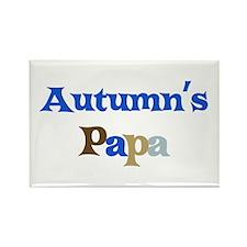 Autumn's Papa Rectangle Magnet