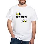 BEE HAPPY White T-Shirt