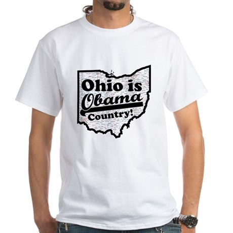 Ohio Is Obama Country White T-Shirt