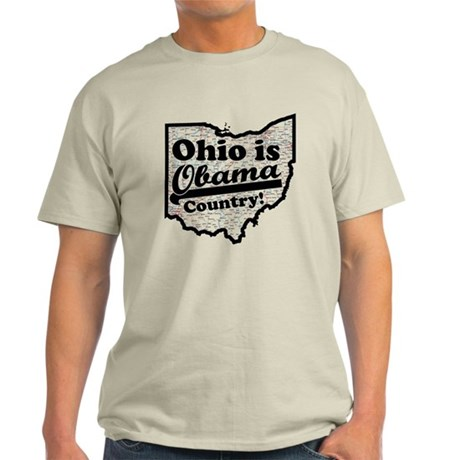 Ohio Is Obama Country Light T-Shirt