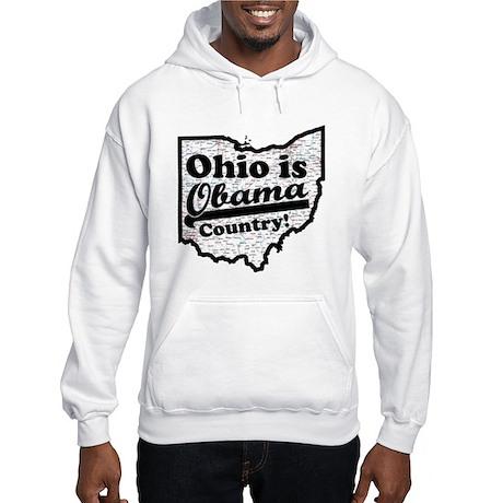 Ohio Is Obama Country Hooded Sweatshirt
