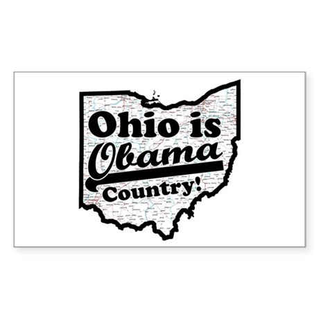 Ohio Is Obama Country Rectangle Sticker