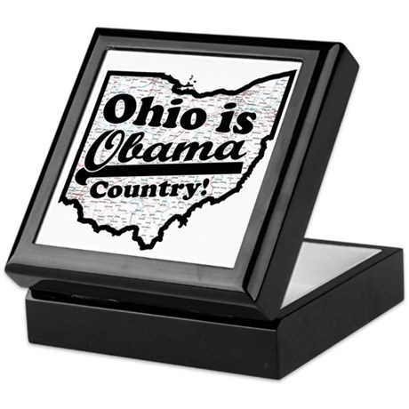 Ohio Is Obama Country Keepsake Box