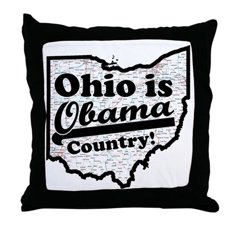 Ohio Is Obama Country Throw Pillow