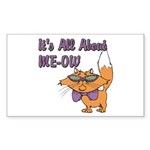 It's All About Me Cat Rectangle Sticker