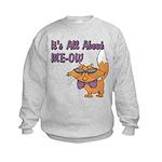 It's All About Me Cat Kids Sweatshirt