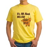 It's All About Me Cat Yellow T-Shirt